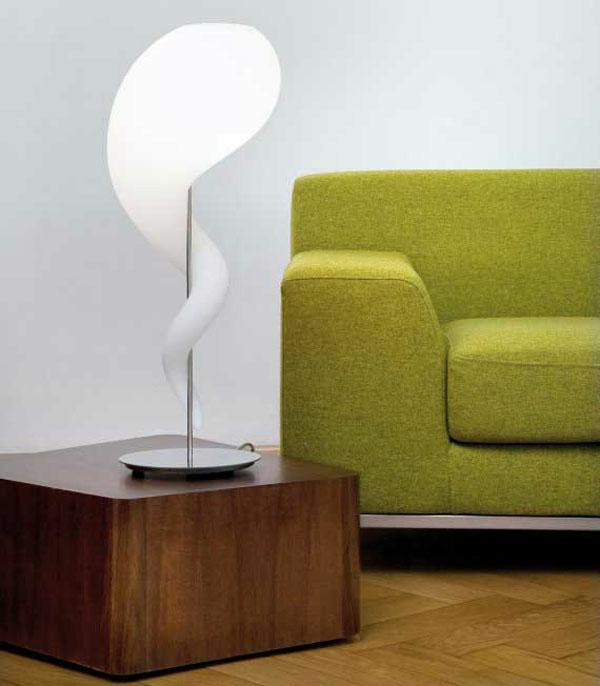 Lampen Design charakter stehlampe sofa grün