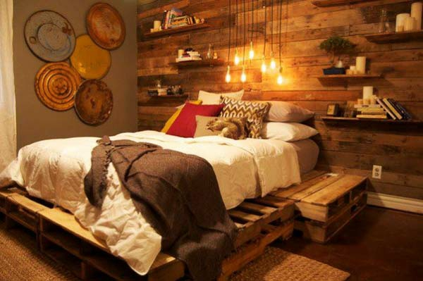 Möbel aus europaletten bett  60 DIY Möbel aus Europaletten - Erstaunliche Bastelideen