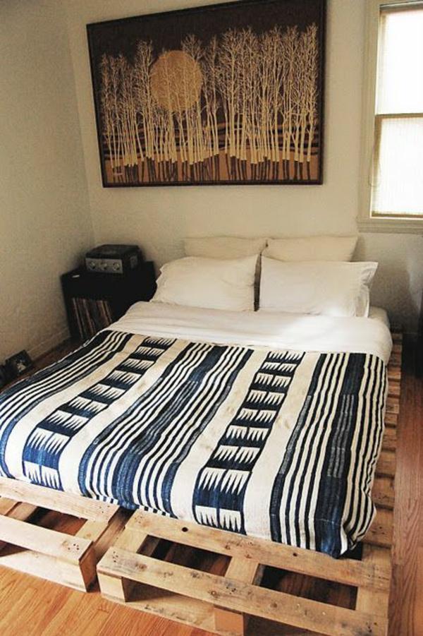 Möbel aus Europaletten bett matratze