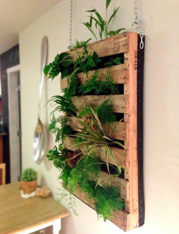 DIY Möbel Europaletten hängedeko