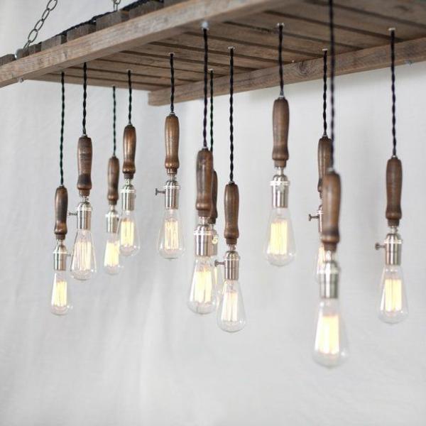 Möbel aus Europaletten lampen diy