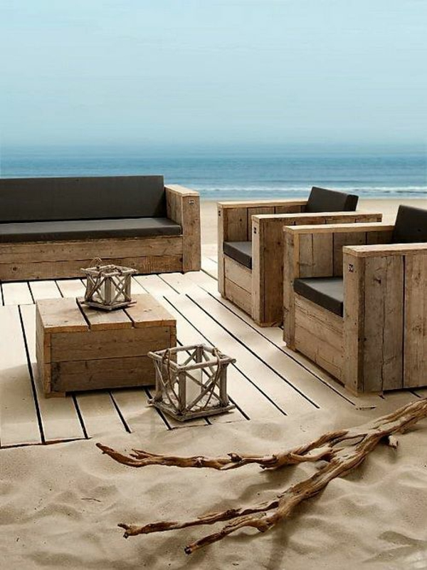 Möbel aus Europaletten meer mediterran gartenmöbel