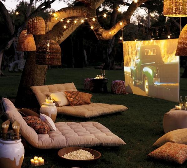 Möbel aus Europaletten romantisch ambiente screen