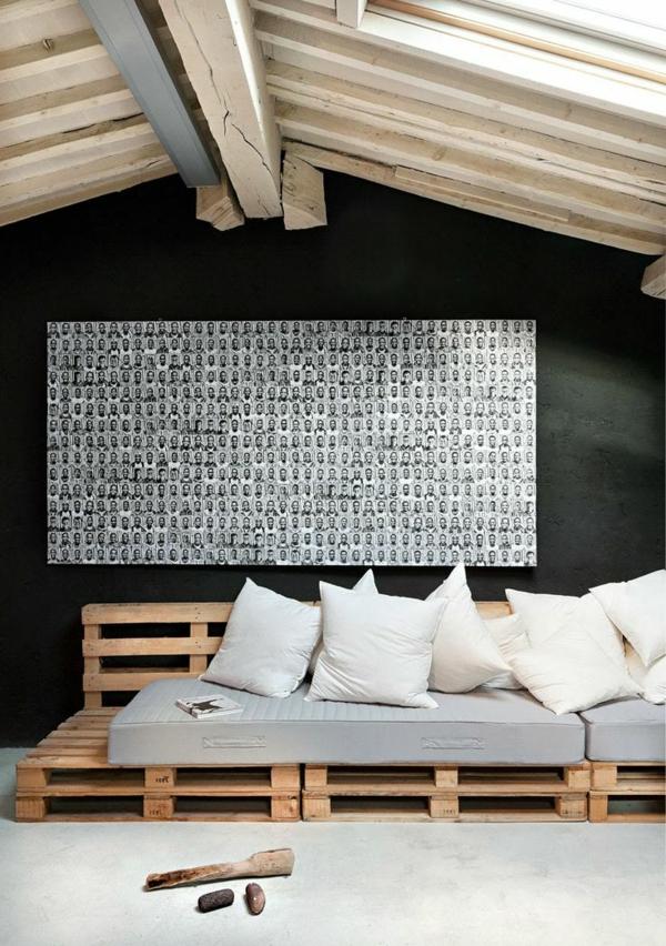 Möbel Europaletten schön kunst sofa