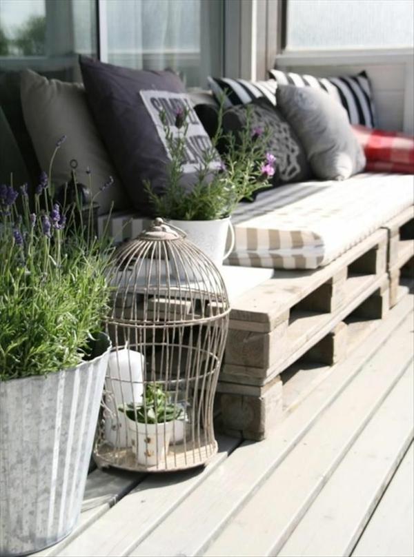 Möbel pflanzen frisch Europaletten sofa garten