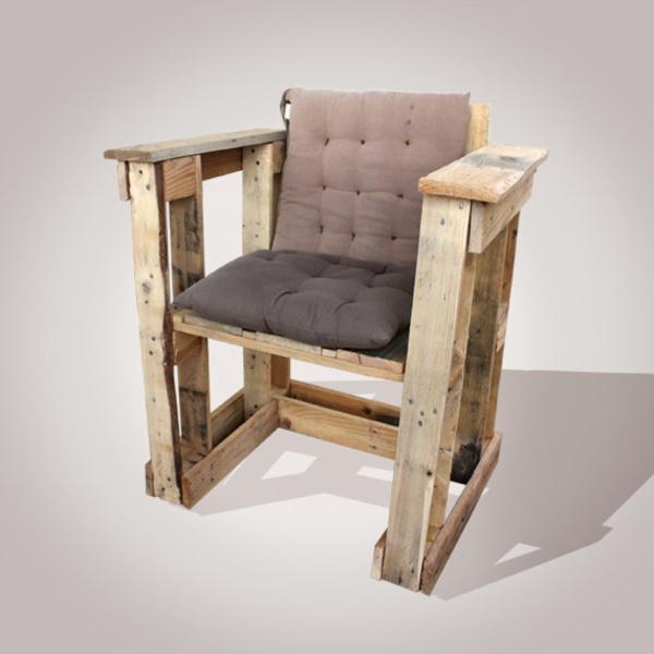 Möbel braun Europaletten stuhl auflagen