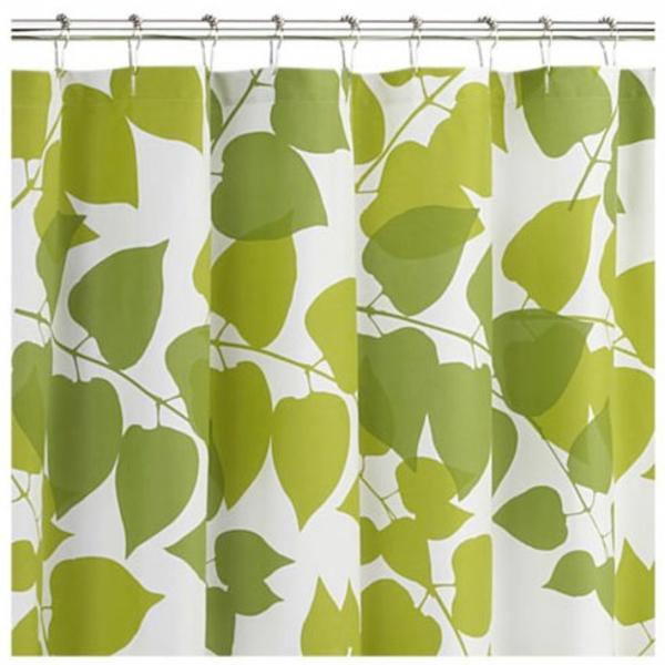 Marimekko Duschvorhang grüne muster blätter