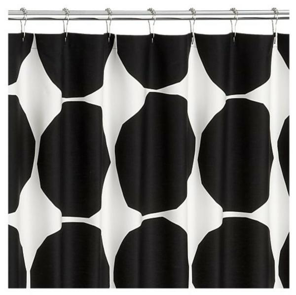 Duschvorhang Marimekko  punkte schwarz weiß