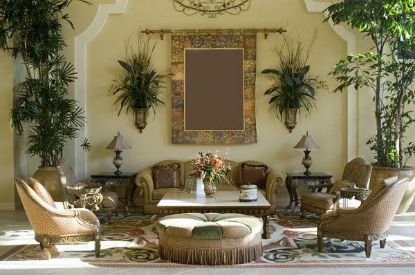 Mediterrane Einrichtungsideen landhausstil möbel üppig