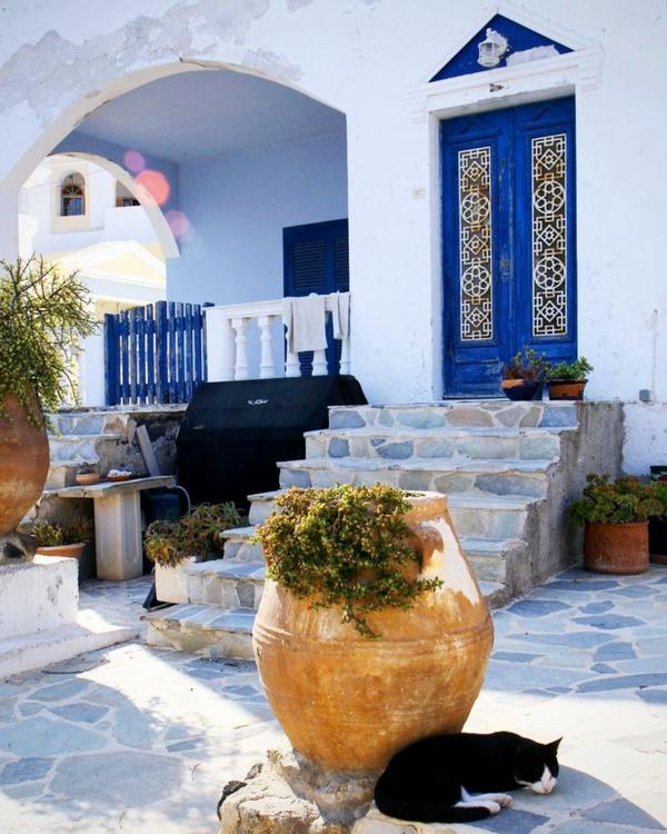 Einrichtungsideen landhausstil Mediterrane möbel außenbereich