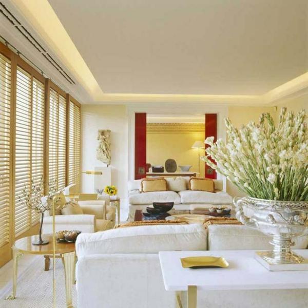 Mediterrane Einrichtungsideen landhausstil möbel gelb grau