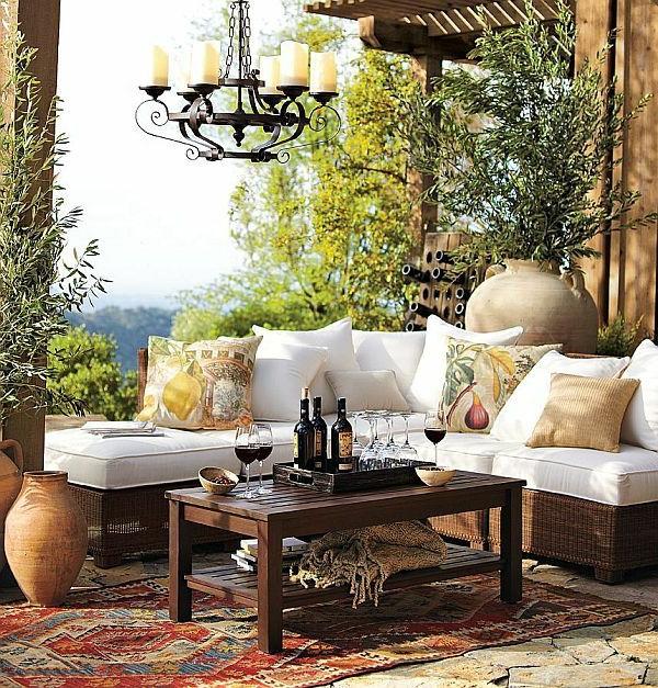 Einrichtungsideen landhausstil möbel sofa weiß