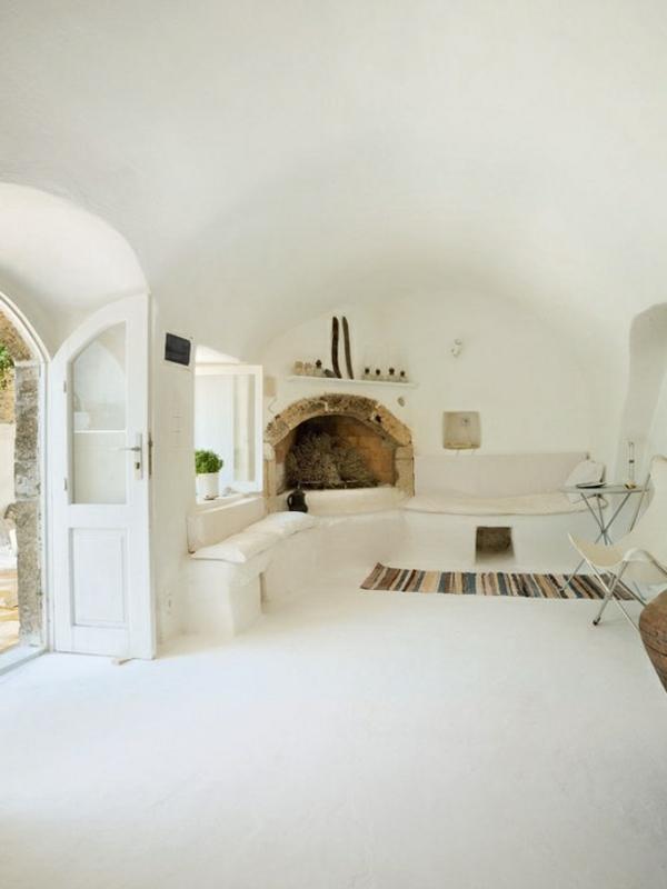 Mediterrane Einrichtungsideen landhausstil möbel weiß