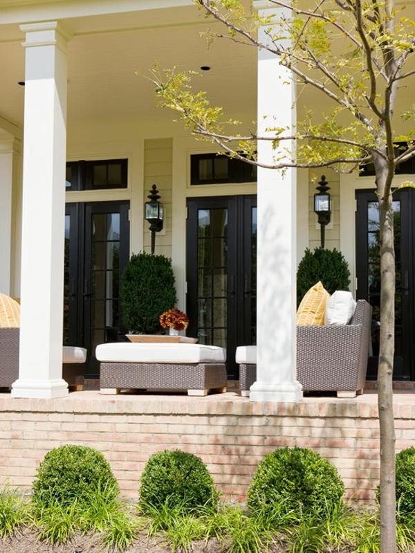 moderne Terrassengestaltung Ideen gartenmöbel set ideen