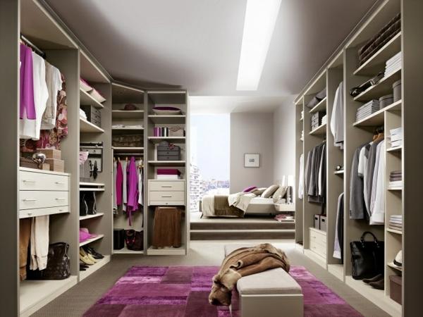 Begehbarer kleiderschrank rosa  Offene Kleiderschranksysteme - begehbare Kleiderschränke