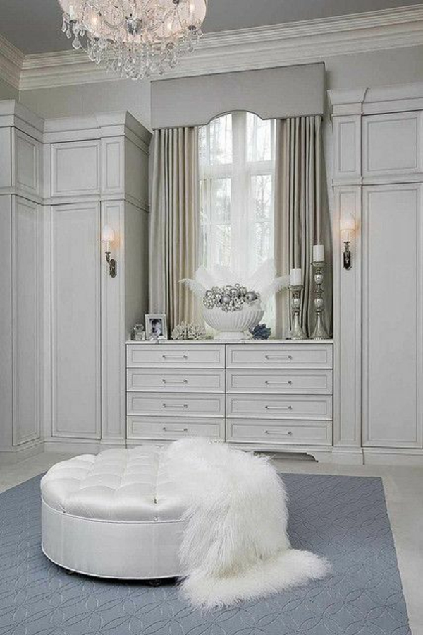 Offene Kleiderschranksysteme begehbarer kleiderschrank weiß leder