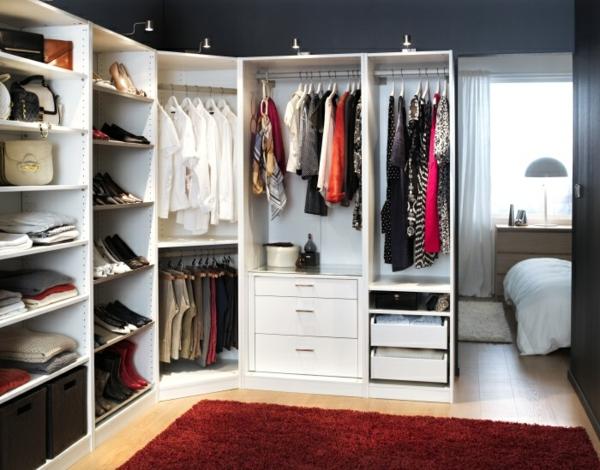 begehbarer kleiderschrank weiß Kleiderschranksysteme