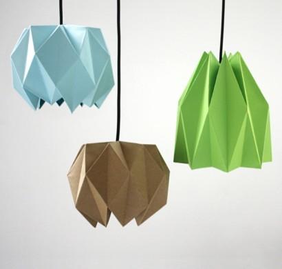 origami lampenschirm anleitung f r bastler. Black Bedroom Furniture Sets. Home Design Ideas