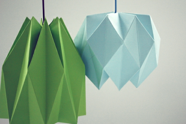 Origami Lampenschirm Anleitung originell