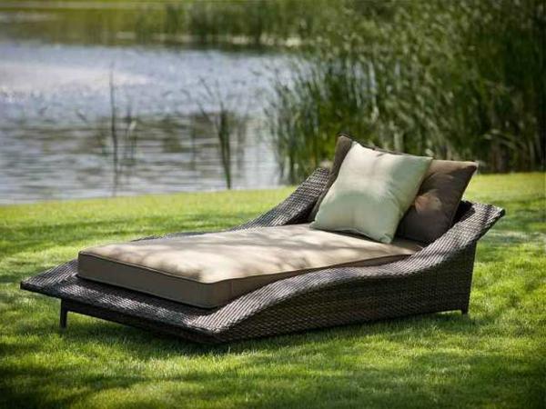 Outdoor Möbel Polyrattan gartenmöbel polyrattan liege