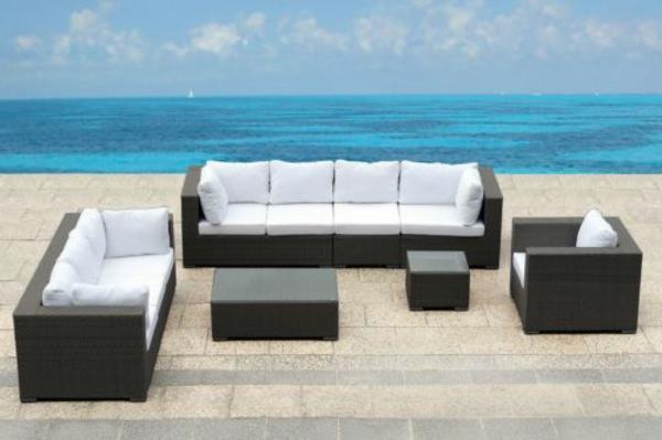 Outdoor Möbel aus Polyrattan gartenmöbel polyrattan sofas