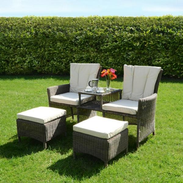 Outdoor Möbel aus Polyrattan - beständige Gartenmöbel