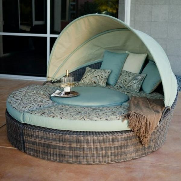gartenmöbel aus Polyrattan lounge gartenmöbel rund
