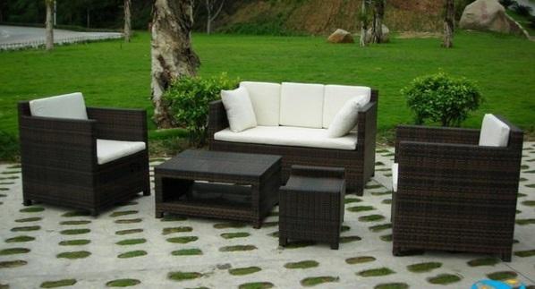 Möbel aus Polyrattan lounge gartenmöbel traditionell
