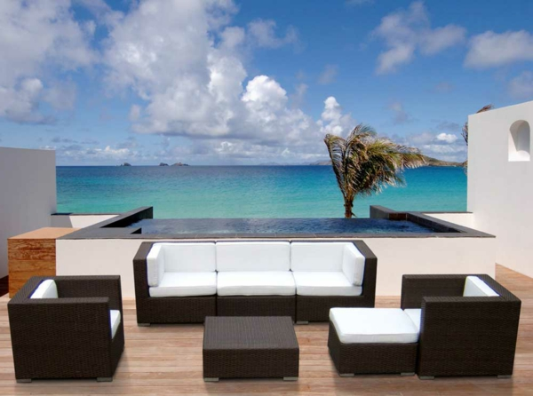 Gartenmobel Holz Metall :  Lounge Outdoor mobel aus polyrattan Sommer sonne gartenmoebel