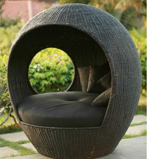 Outdoor Rattanmöbel originell möbelstück