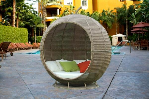 Outdoor außenbereich Rattanmöbel rund sonnenschutz