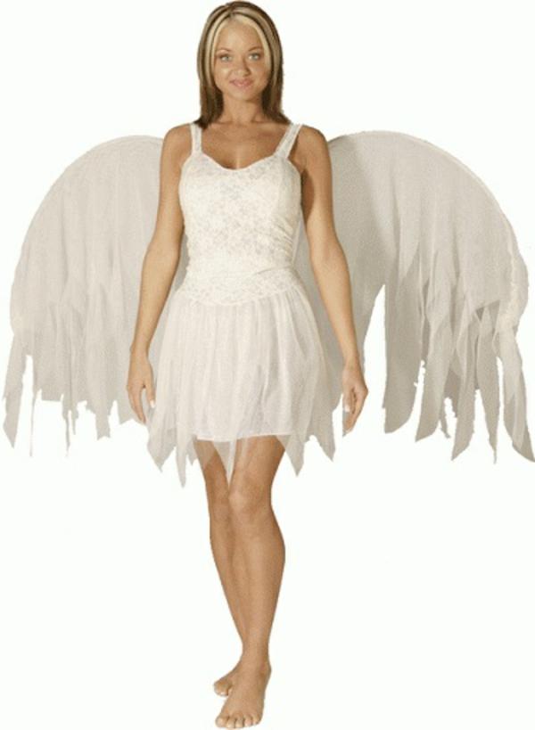 Selbstgemachte Kostüme engel weiß