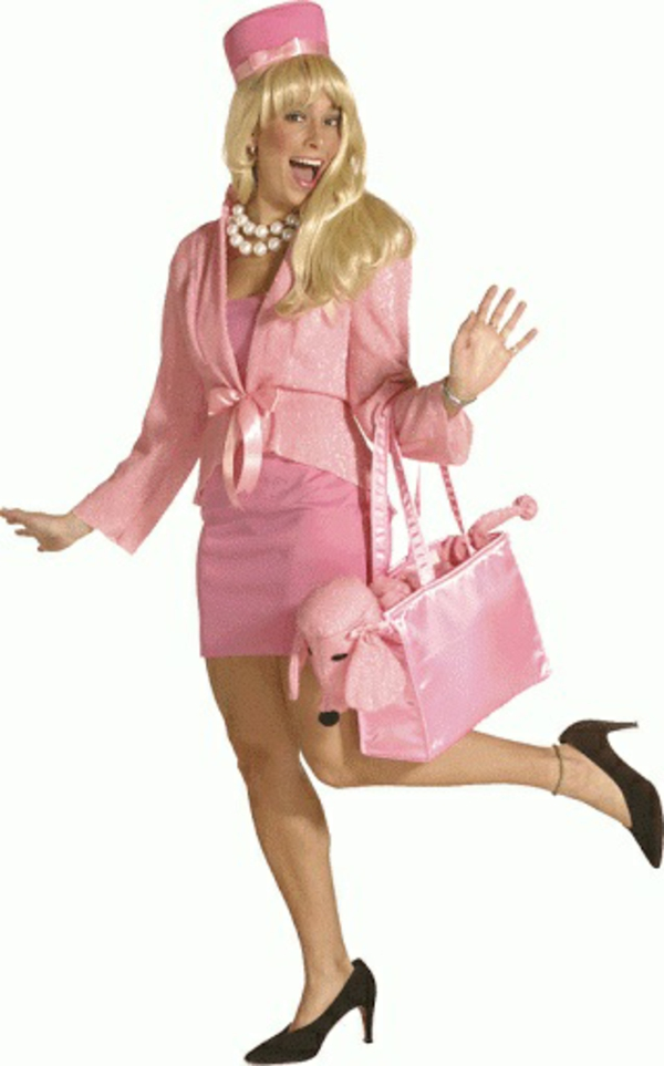diy karneval fasching Kostüme rosa blond fasching
