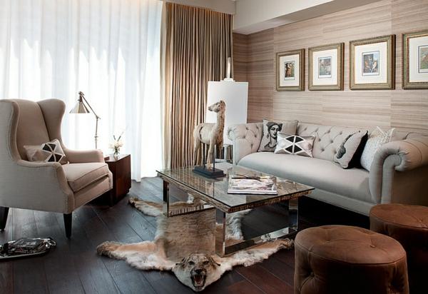 Sofas und Couches warm farbgestaltung gardinen gemälde