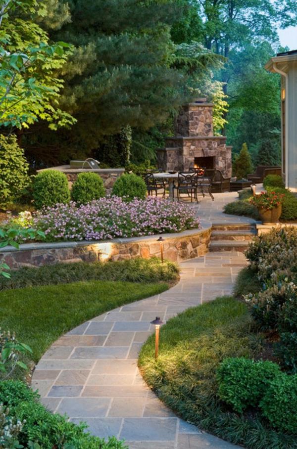 Solarlampen im Garten contemporary gartengestaltung stein