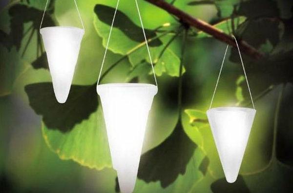 Solarleuchten im Garten contemporary hängend