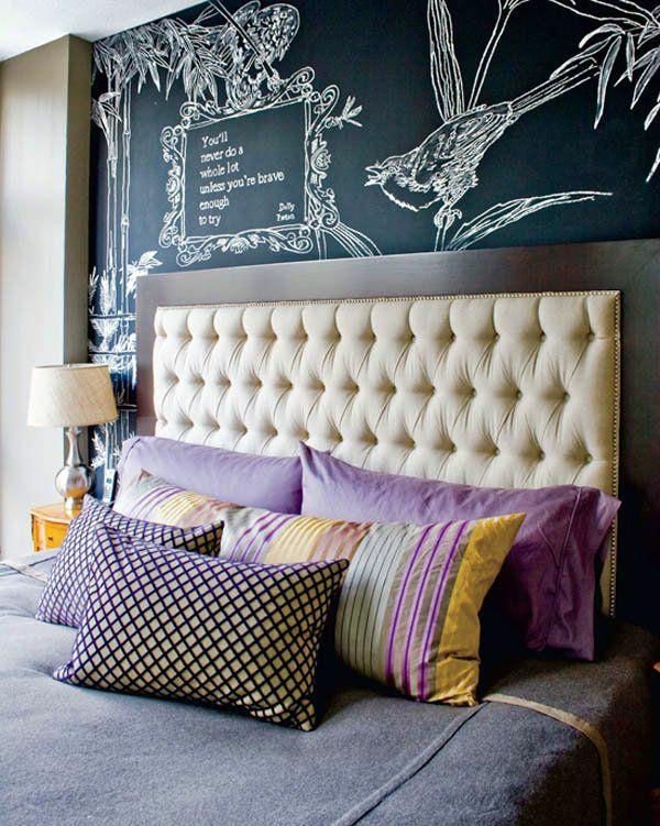 Streichideen Fur Wande Streifen : Streichideen für Wände bett kopfteil gepolstert tischlampe