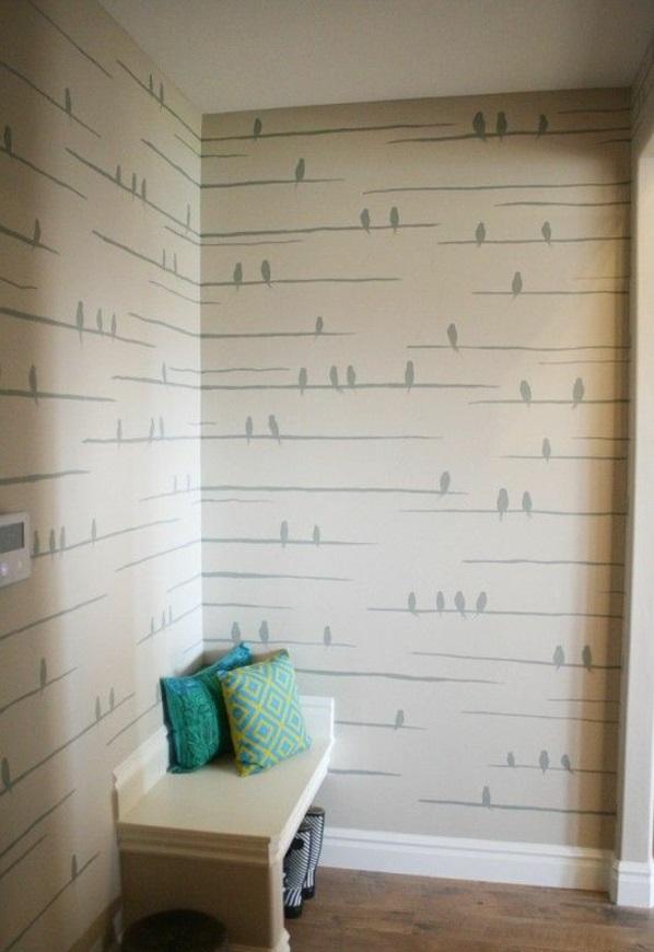 Streichideen für Wände farben muster stuhl