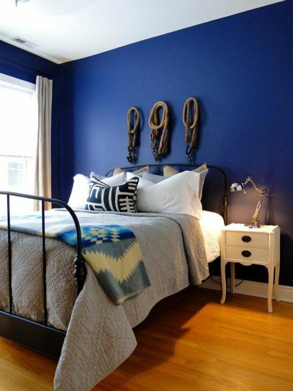Streichideen Wände nautisch blau schlafzimmer