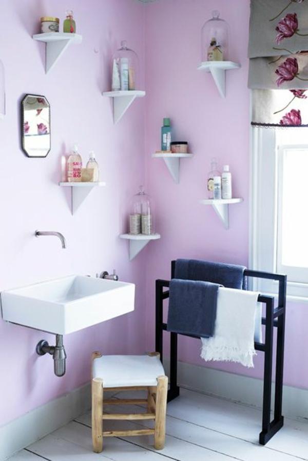 Streichideen für Wände regal  lila farbe