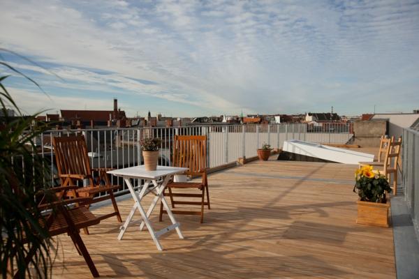 Terrassenboden aus Teakholz patio
