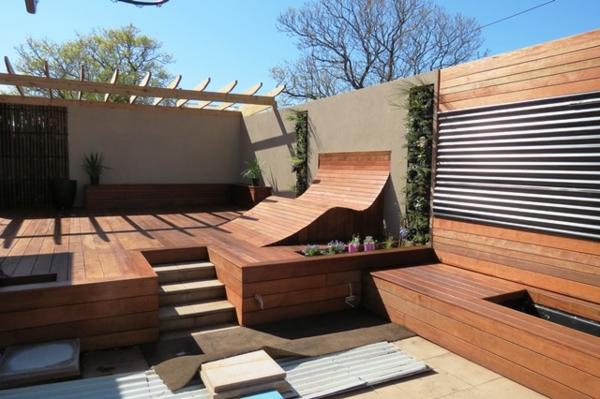 Terrassenboden aus Teakholz privat