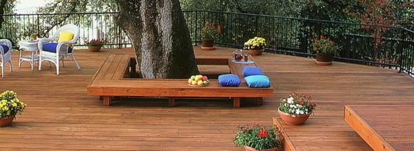 Terrassenboden aus Teakholz schön