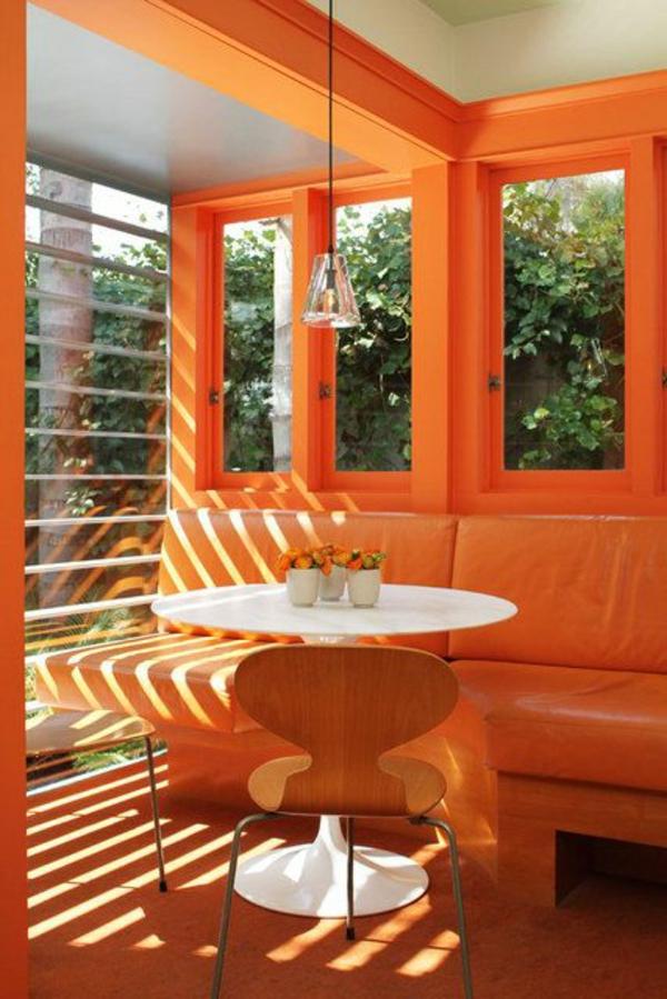 wohnzimmer farbgestaltung wände:wohnzimmer orange streichen : Wände ...