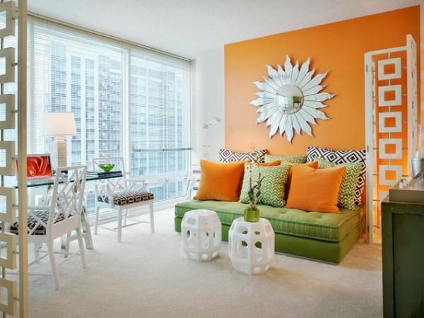 w228nde streichen farbideen f252r orange wandgestaltung