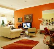 Wände streichen - Farbideen für orange Wandgestaltung