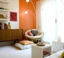 Wände streichen – Farbideen für orange Wandgestaltung