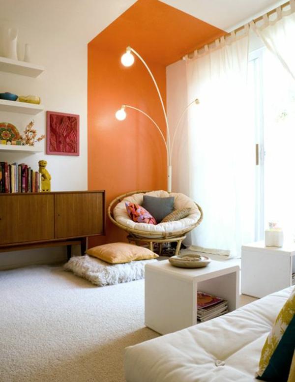 Farbideen Wände streichen orange wandfarbe