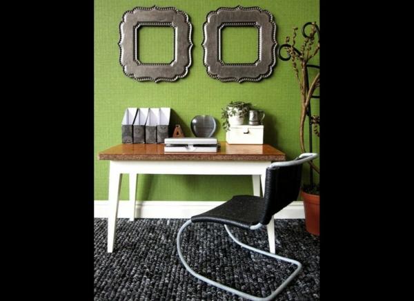 Wandfarbe in Grüntönen klassisch elegant