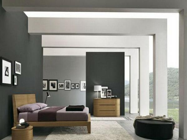 Wandfarbe Grautöne farbgestaltung modern contemporary